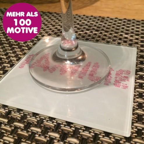 Untersetzer aus Glas