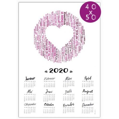 Kalender 2020 - 40 x 50 cm -