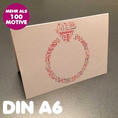 Klappkarte A6 Querformat inkl. Umschlag