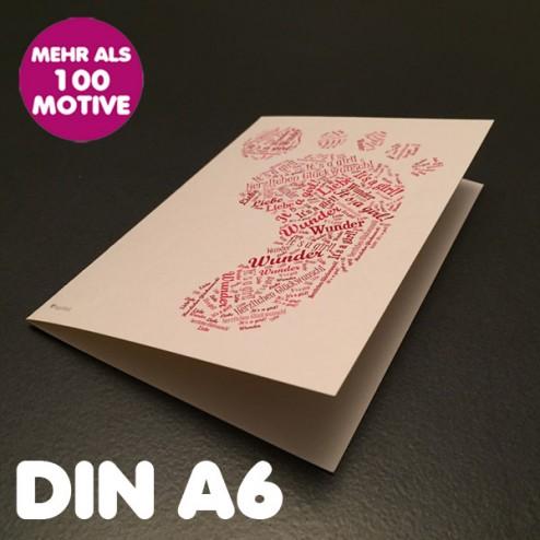 Klappkarte A6 Hochformat inkl. Umschlag