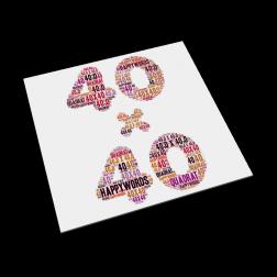 Kunstdruck - 40 x 40 cm