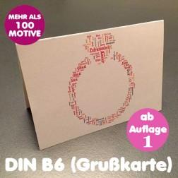 Klappkarte B6 Querformat inkl. Umschlag