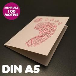 Klappkarte A5 Hochformat inkl. Umschlag